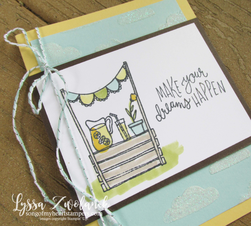 Lemonade Stand Sunny Days stampin Up set Lyssa lemons sunshine