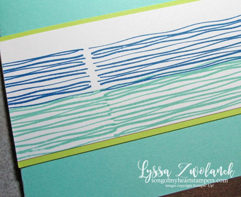 Lilypad Lake heron stamp set river water rubber Stampin Up Lyssa