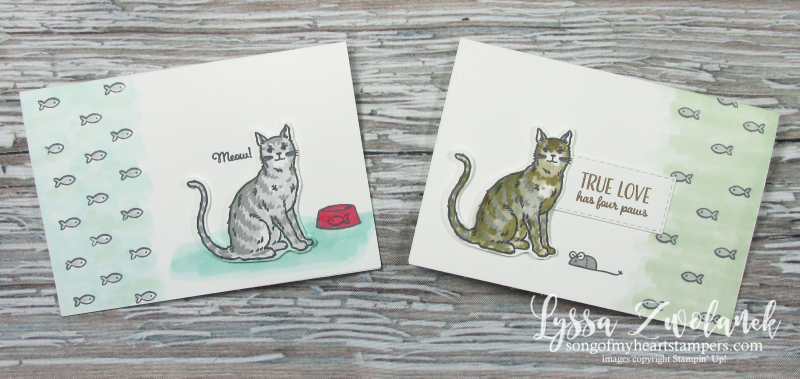 Nine Lives cat punch stampin up kitties yarn paw prints mouse tail stamps