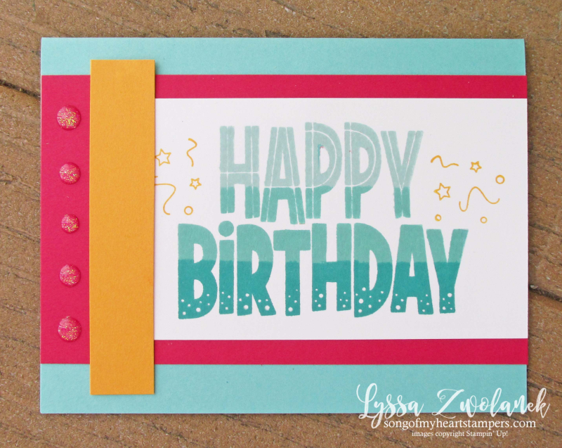 Stamparatus One For All Stampin Up happy birthday easy ombre ink technique
