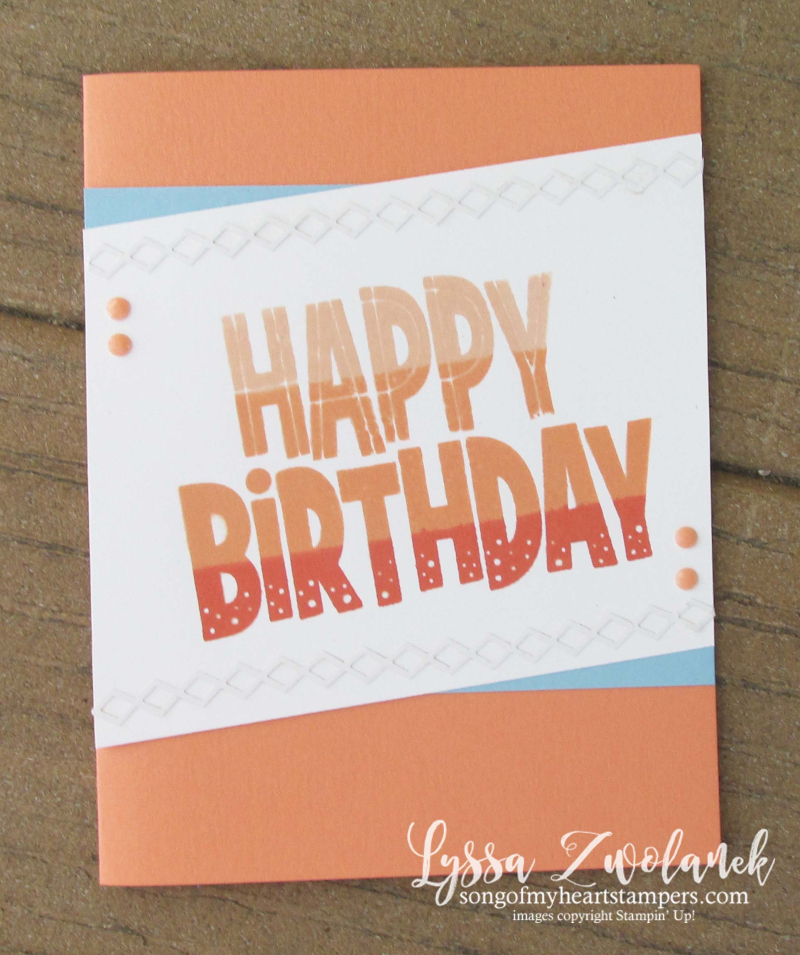 Stamparatus One For All Stampin Up happy birthday ombre technique