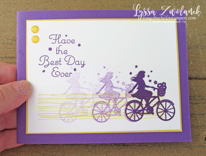 Stamparatus One For All Stampin Up happy birthday motion bicycle technique
