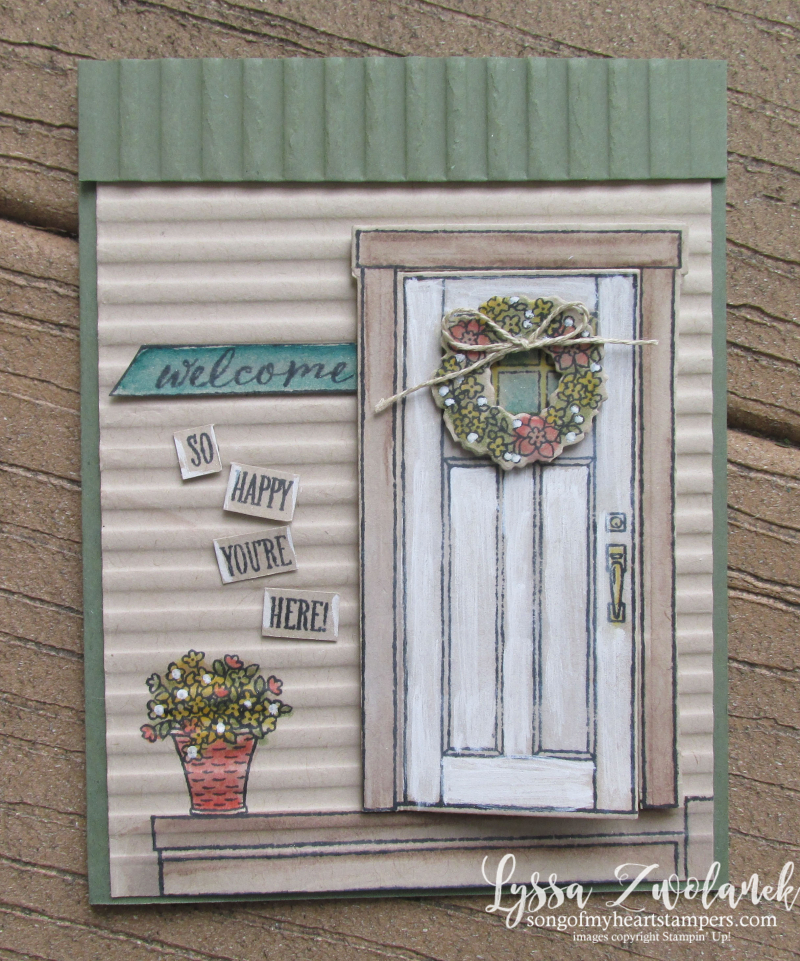 At home with You stampin Up door house fancy fold Sizzix framelits