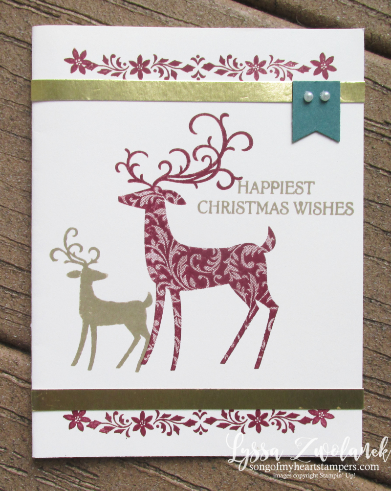 Dashijng deer detailed thinlets holiday christmas cards cardmaking stampin up forest reindeer