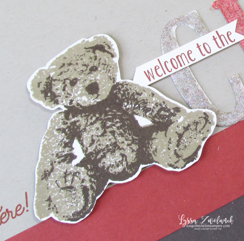 Teddy bear circus scrapbook pages baby layouts scrapbooking Stampin Up Lyssa
