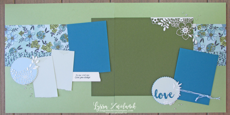 Share love papers detailed diecutlace lasercut delicate design Stampin Up 12x12