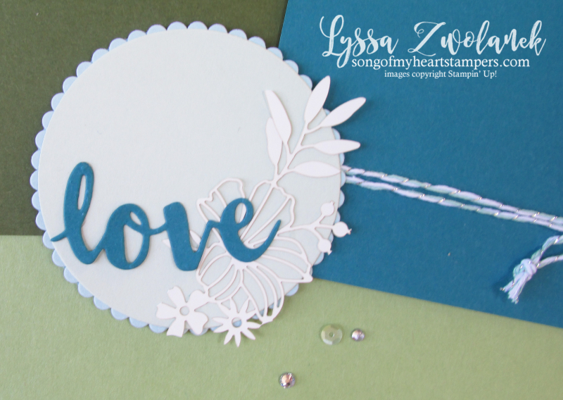 Share love papers detailed diecut lasercut lace delicate designs Stampin Up 12x12