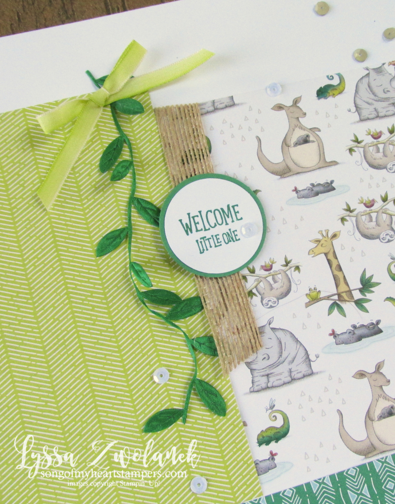 Wild about you animal outing zoo pages layout baby stampin up 12x12