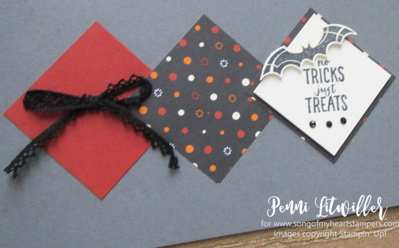 Bat punch halloween costumes scrapbook page stampin up october 31