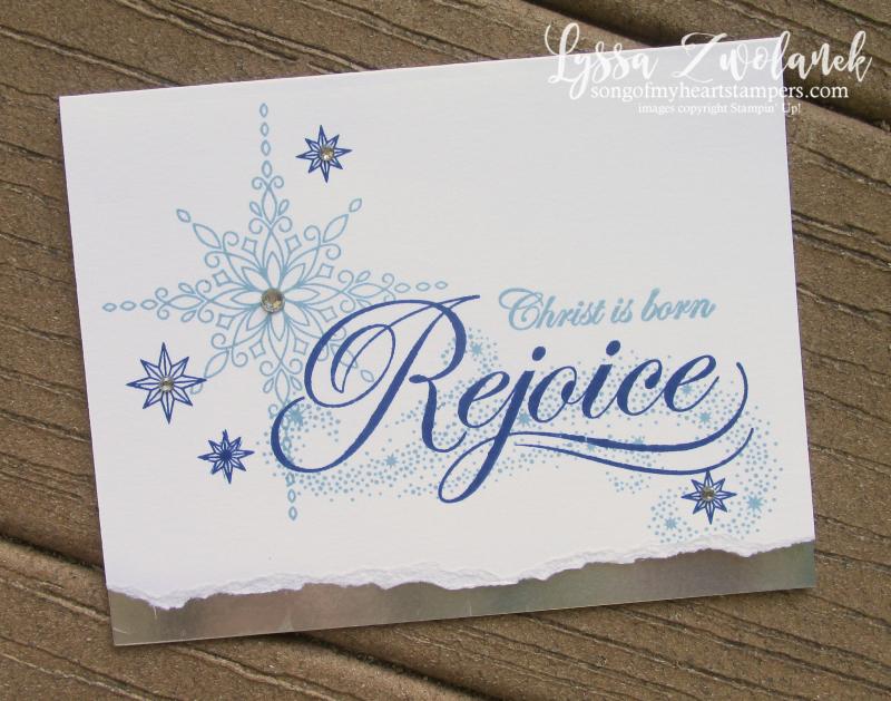 Rejoice christmas sayings His Light stampin up holiday cards reason season