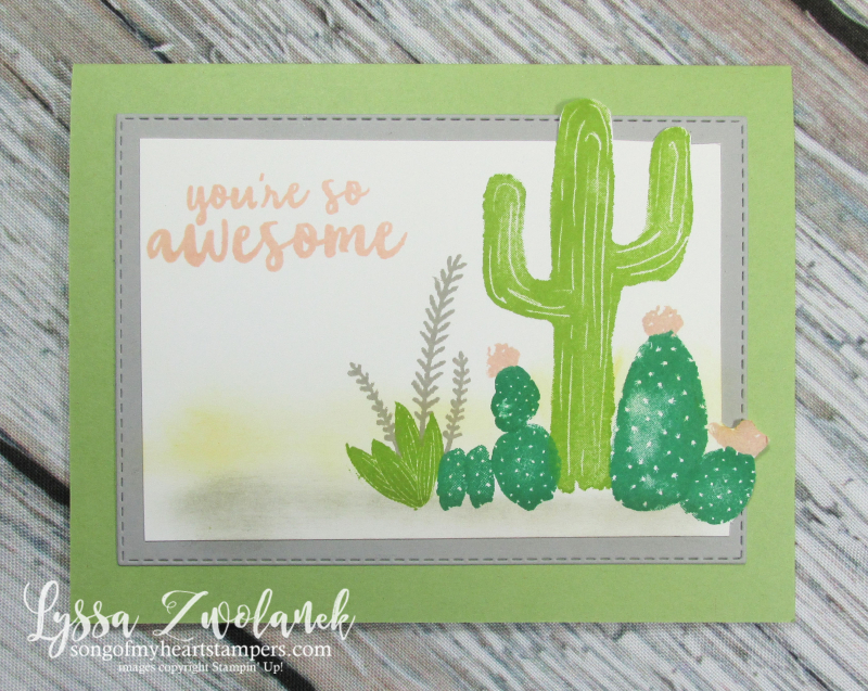 Cactus succulent rock garden stamps Stampin' Up prickly pear flowering desert agave stamps