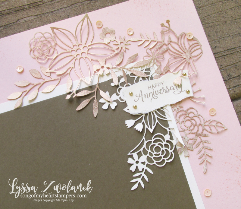 Delightfully detailed lace laser cut 12x12 sheets layout scrapbooking Lyssa Stampin up