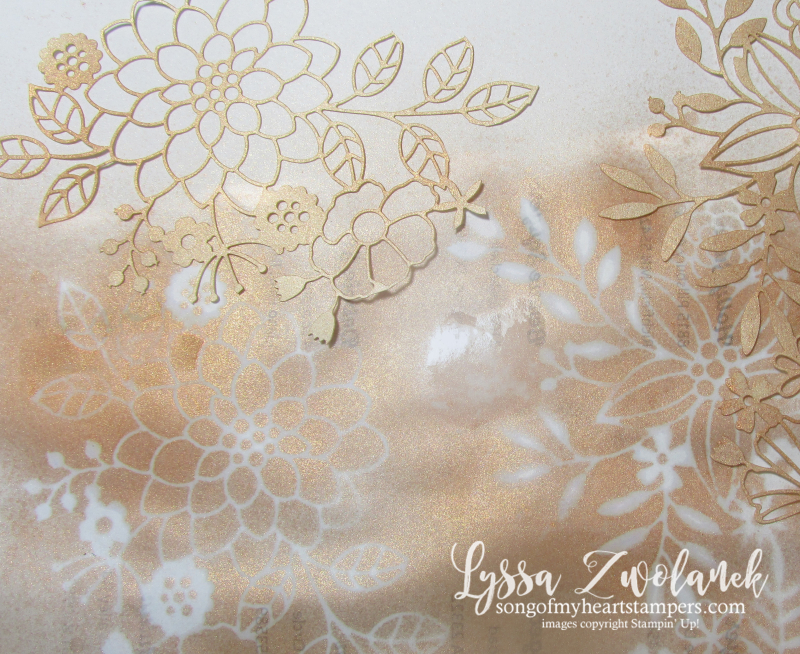 Delightfully detail lace lasercut papers 12x12 sheet Stampin Up wedding invitations