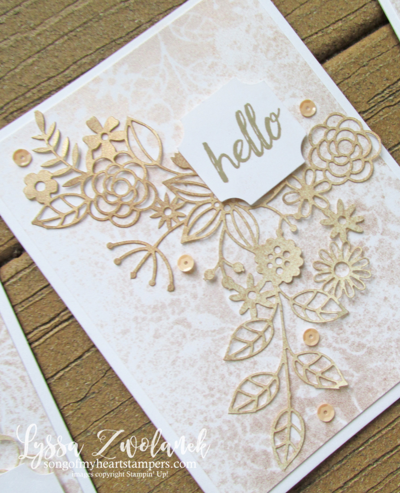 Delightfully detail lace lasercut papers 12x12 sheets Stampin Up wedding card invitations