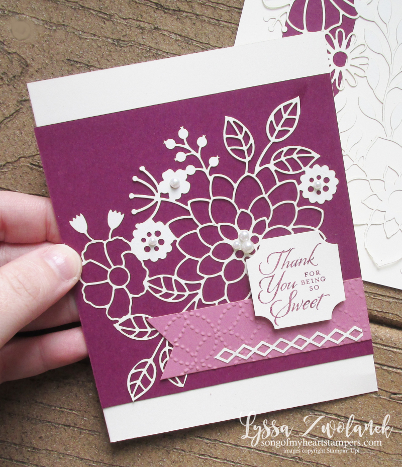 Detailed delightfully lace paper sheets 12x12 Stampin Up DIY cardmaking tutorials