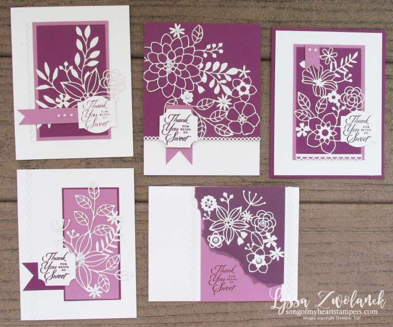 Detailed delightfully lace paper sheets 12x12 Stampin Up DIY punch cardmaking box tutorials