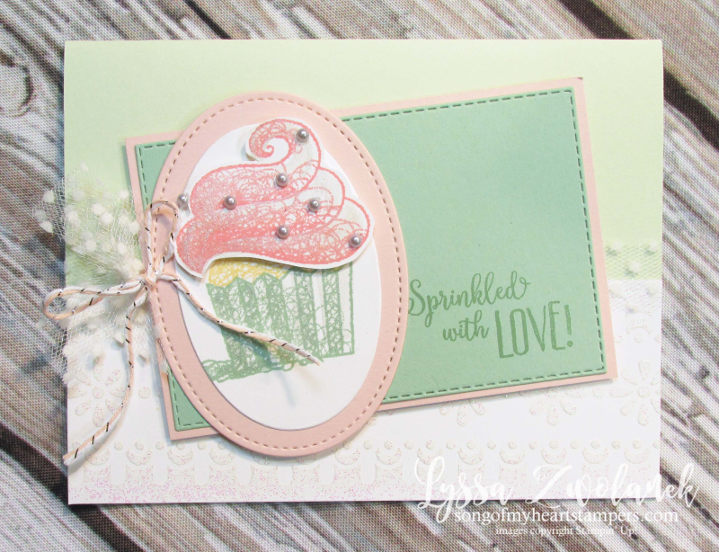 Hello cupcake SAB stampin up saleabration rubber stamp sale party birthday
