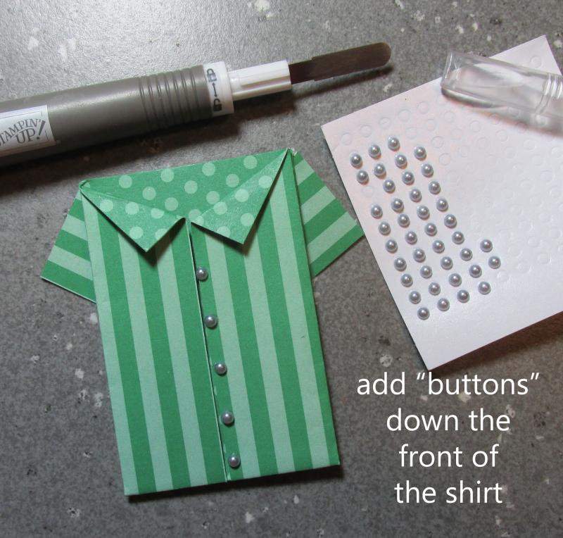 Origami shirt fold tutorial hawaiian shirts making paper DIY Stampin Up