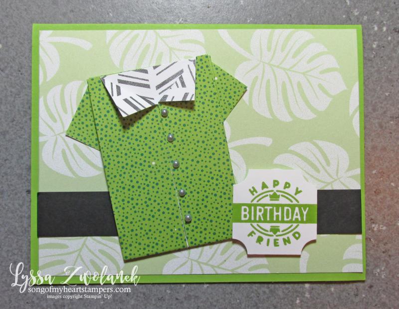 Origami shirt fold tutorial hawaiian shirts DIY cardmaking paper Stampin Up