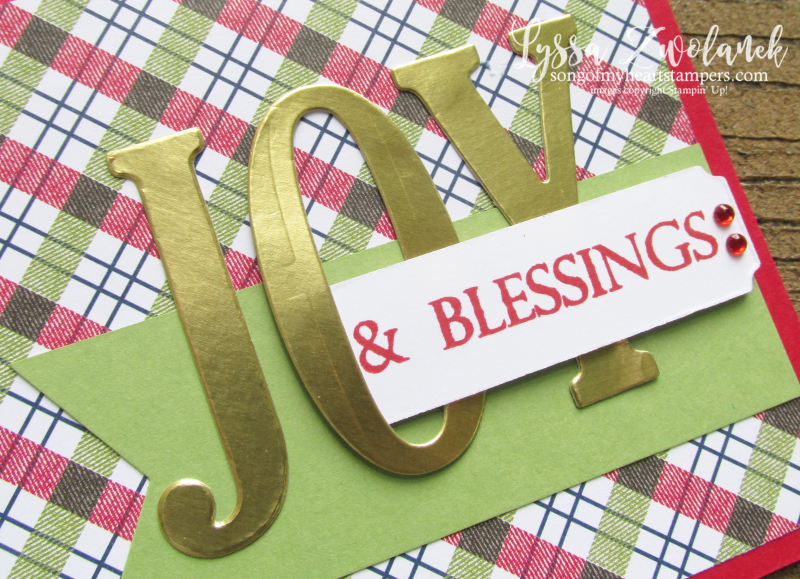 Under the Mistletoe Stampin Up holiday christmas large letters framelits sizzix cards