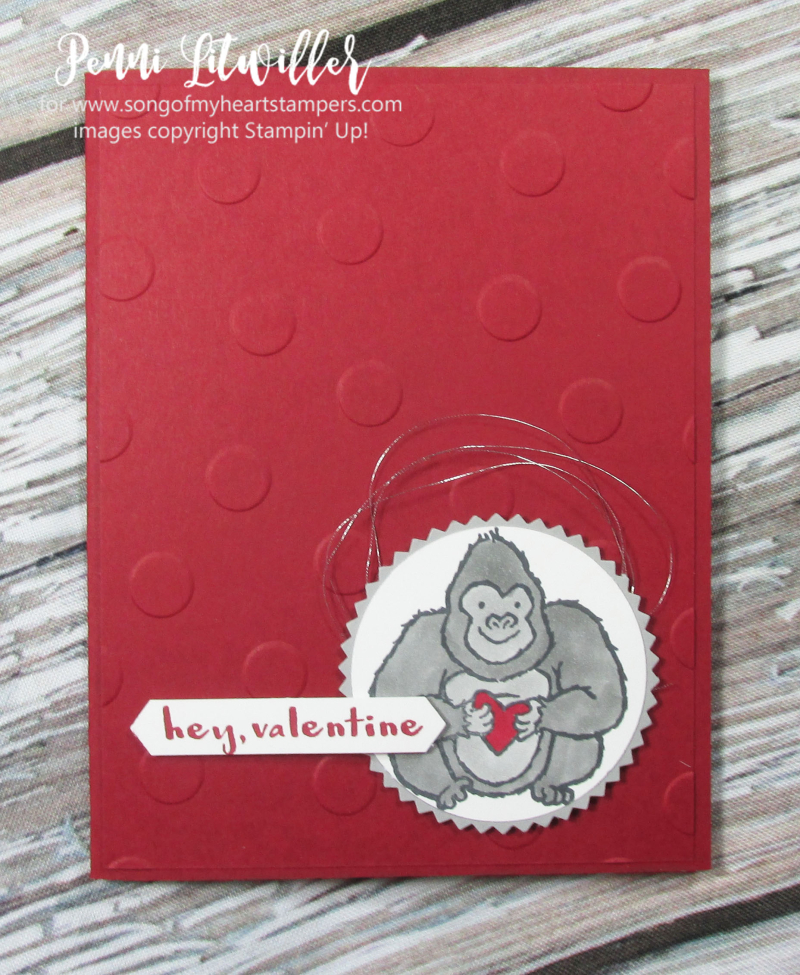 Hey Love Stampin Up valentine ape gorilla crocodile otter hamster stamps kids skunk sweet