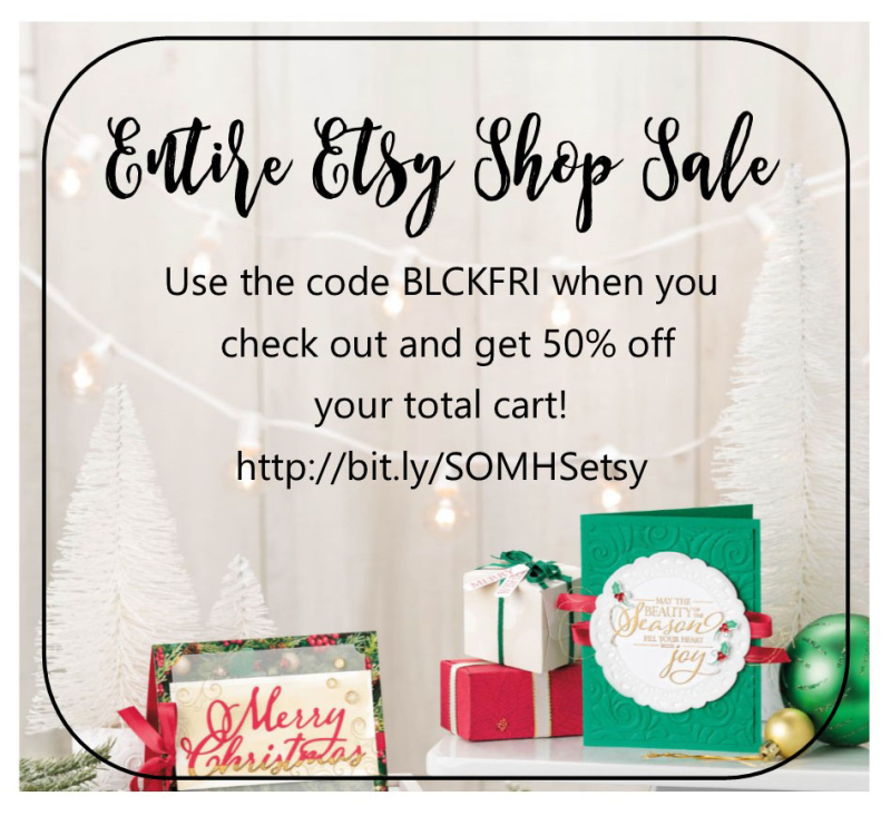 Etsy sale 2018