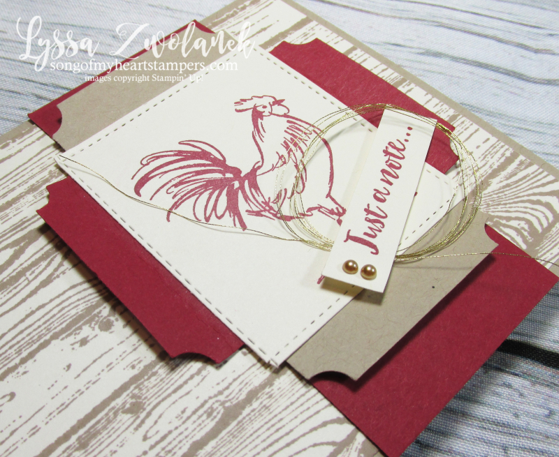 Rooster chicken farm fresh stampin up rubber stamps barn doors hen