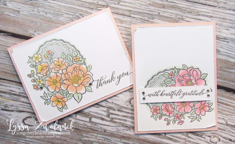 Lovely lattice Stampin Up roses stamps Lyssa SAB SaleABration doily lace wedding DIY