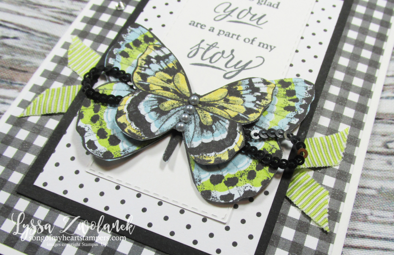 Butterfly DSP gala papers 12x12 scrapbooking SAB free Stampin up butterflies saleabration Lyssa