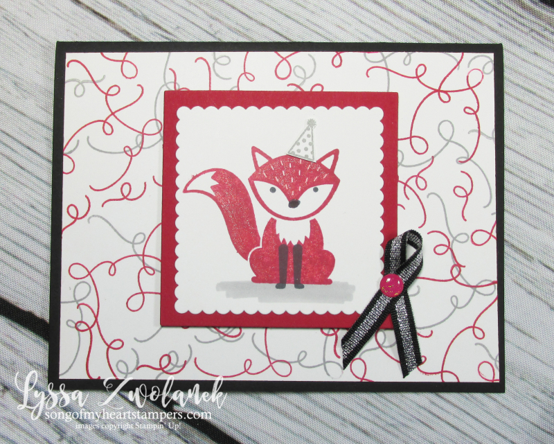 Foxy friends punch art around corner rubber stamps satmpin up cardmaking squiggle
