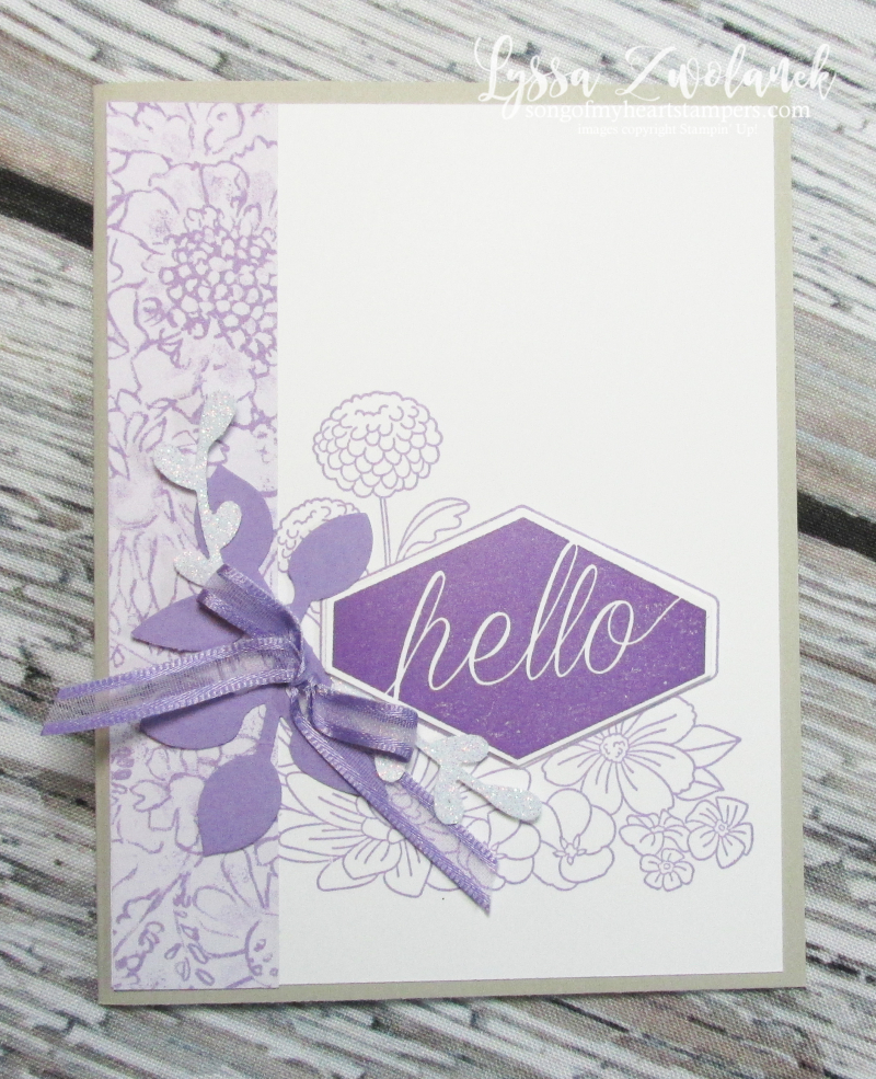 Accented Blooms notecards Stampin Up DIY cardmaking rubber stamps papercrafting punches