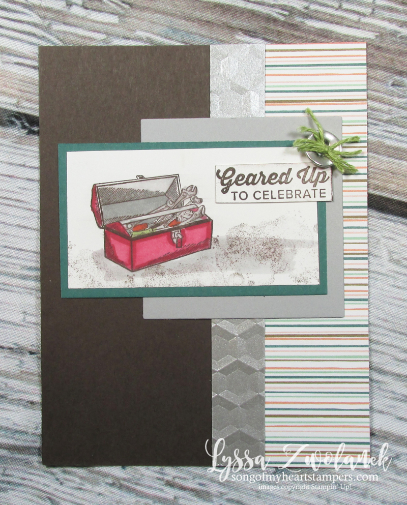 Classic garage geared up handyman thank you toolbox card Stampin Up