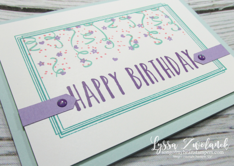 Brthday backgrounds stampin up cardmaking DIY swirly frames masking technique