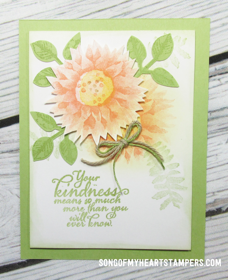 OnStage stampin up rubber stamps painted harvest sunflowers