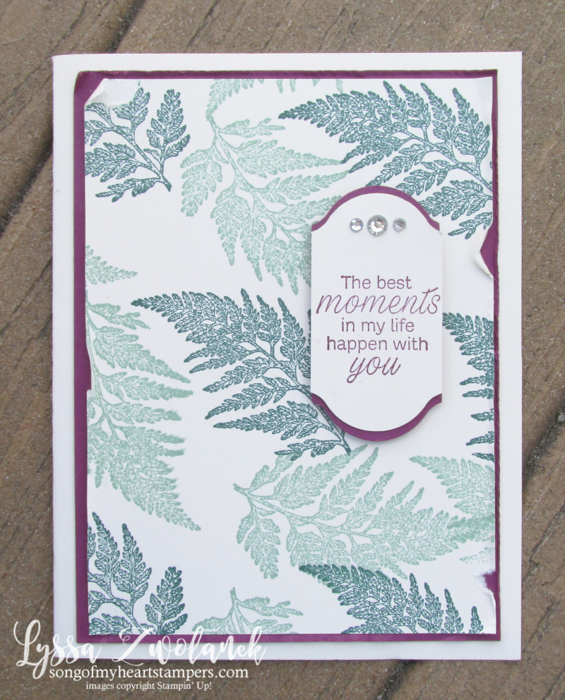 Daisy Lane stampin up fern rubber stamps layout techniques sketches Lyssa