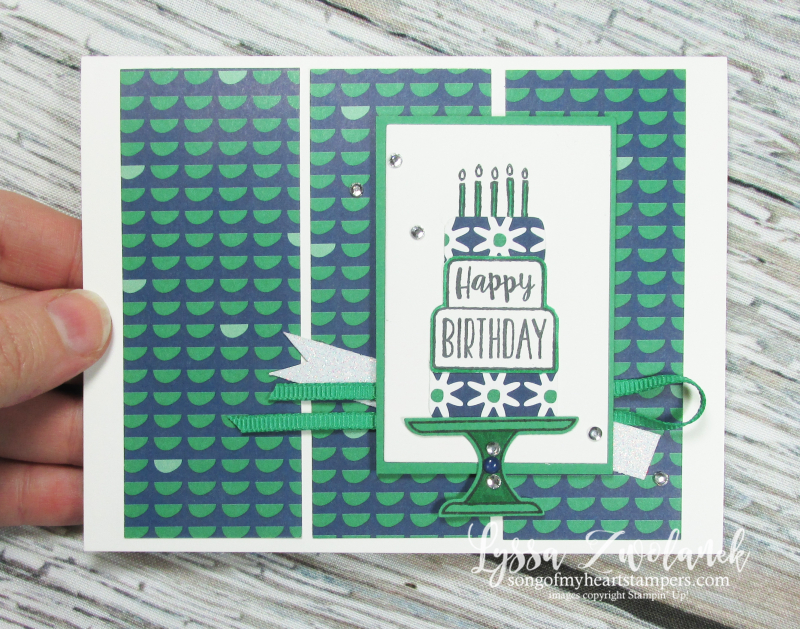 Cake cut punch bundle rubber stamps stampin up Lyssa club class piece DIY