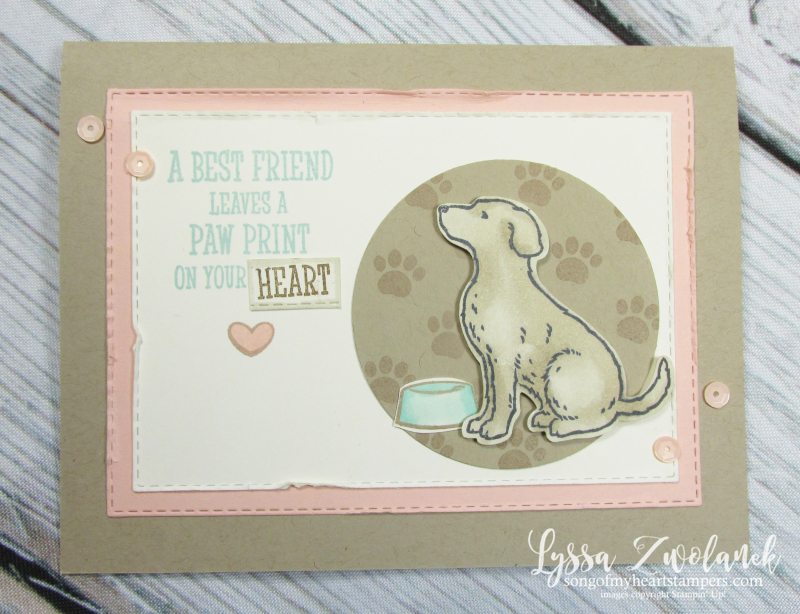 Cat dog punch happy tails nine lives rubber stamp puppy Lyssa Stampin Up