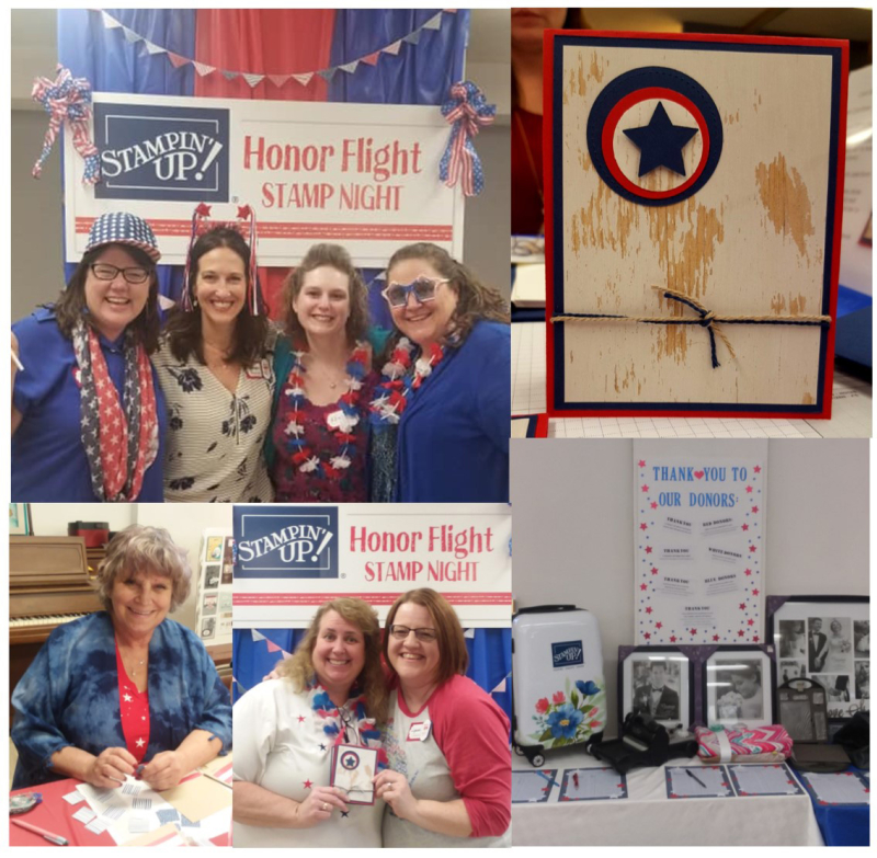 Honor Flight collage 3 stampin up
