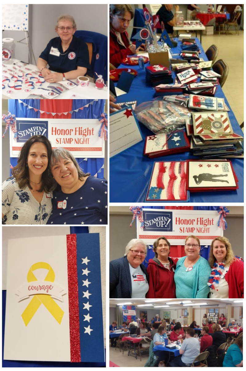 Honor Flight collage 6 stampin up