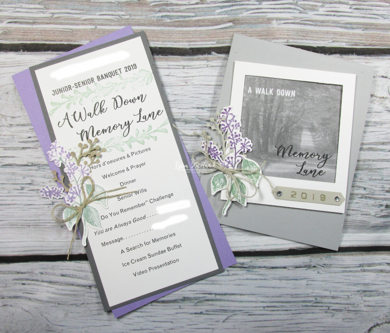 Wedding banquet invitations shower party reception invites Stampin Up stationery