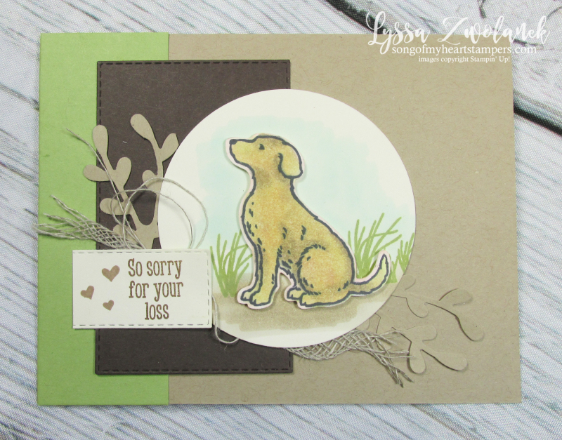 Cat dog punch happy tails nine lives pet sympathy rubber stamp Lyssa Stampin Up