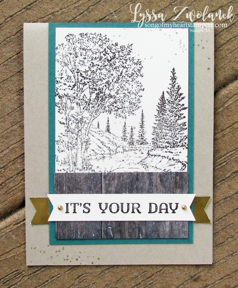 Peaceful Place fathers day masculine guy card Stampin Up rubber stamps cardmaking