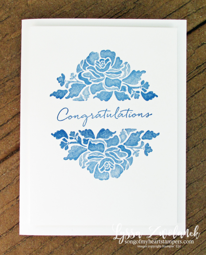 Floral phrases stampin up cardmaking supplies clearance rubber stamps Lyssa