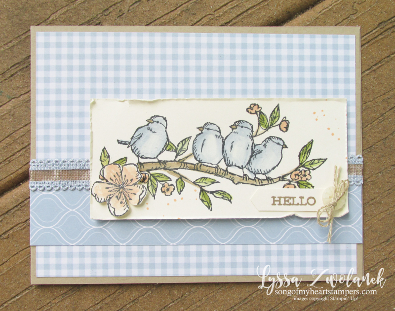 Bird ballad free nested flying feathered bluebirds Stampin Up rubber stamps
