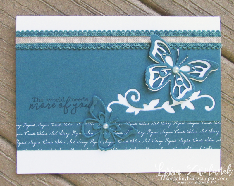 Incolors Stampin up butterfly wishes dies new cardmaking sketches Lyssa