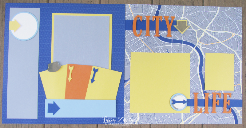 City life map scrapbook subway page 31 layouts stampin up 12x12 album