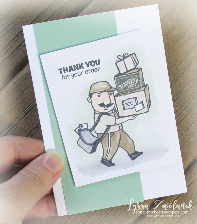 You always deliver out for delivery ups usps post office mail man rubber stamps Stampin Up