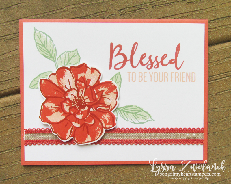 Wild Rose blessed cardmaking techniques sketches tutorials Stampin Up cards