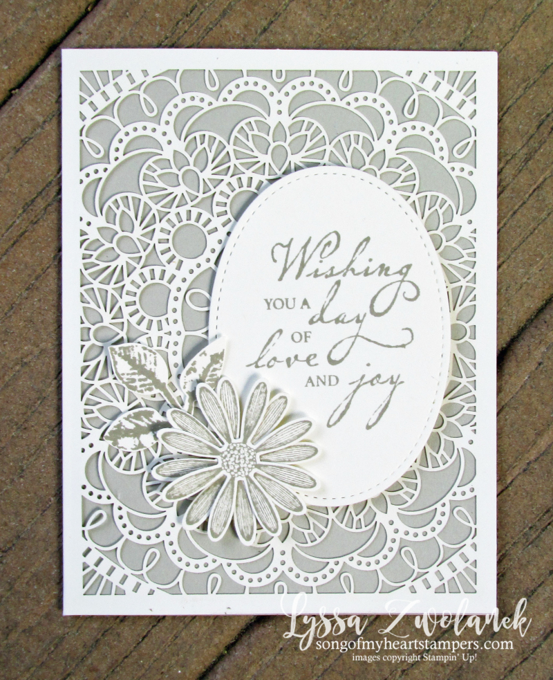 Bird Ballad tin laser cut lace cards premade Stampin Up wedding anniversary gift invitations paper daisy punch