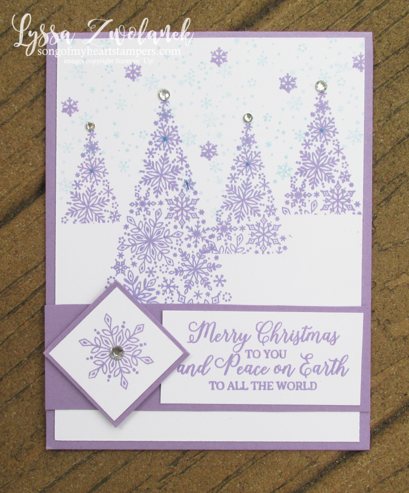 Snowflake showcase Christmas glistening holiday cardmaking Stampin Up